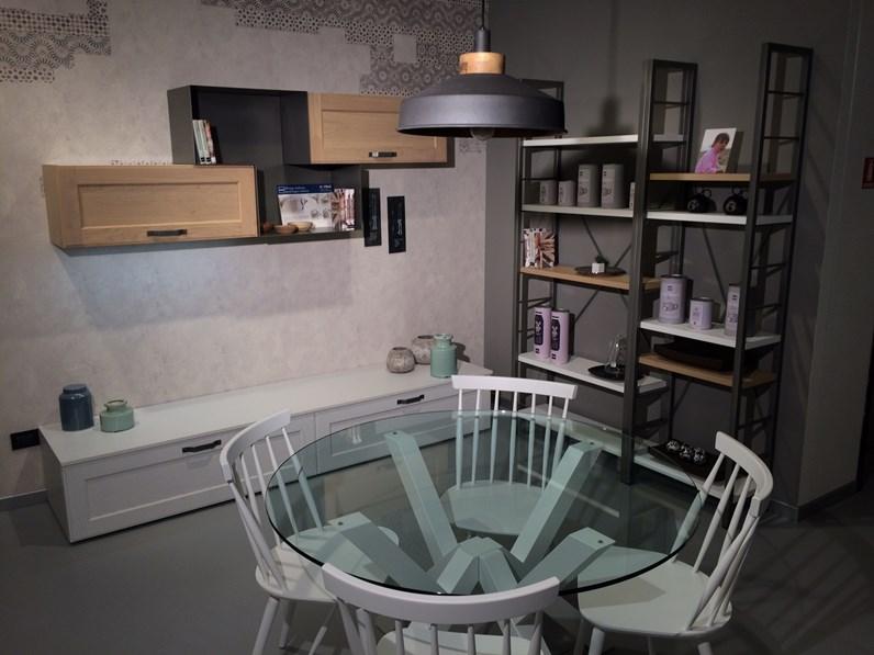 Cucina stosa york con zona living e tavolo in offerta - Tavolo riflessi living prezzo ...