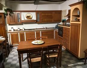 Cucina ad angolo in legno di ciliegio scontata