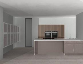 Cucina tortora classica ad isola Vogue Doimo cucine in Offerta Outlet