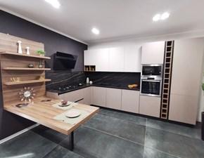 Cucina tortora design ad angolo Omicron Armony in Offerta Outlet