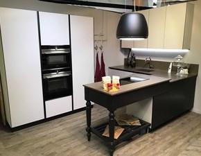 Cucina tortora design ad angolo Vetro opaco Artigianale in Offerta Outlet