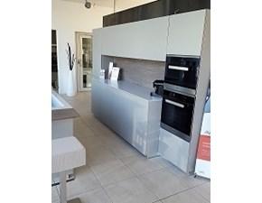 Cucina tortora design ad isola Touch Composit in offerta