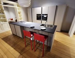 Cucina tortora design ad isola Xp Zampieri cucine scontata