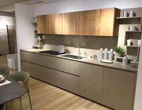 Cucina tortora design lineare Line k Zampieri cucine in Offerta Outlet