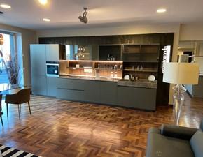 Cucina tortora design lineare Soul Ernestomeda scontata
