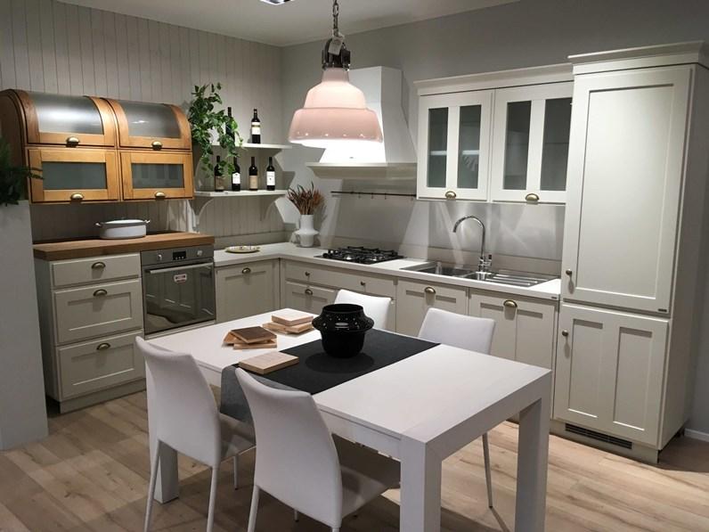 Cucina tortora inglese ad angolo cucina scavolini favilla for Cucine stile inglese