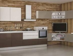 Cucina tortora moderna ad angolo 70 luxe  Artigianmobili in Offerta Outlet