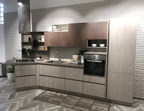 Cucina tortora moderna ad angolo Tablet Creo kitchens in Offerta Outlet