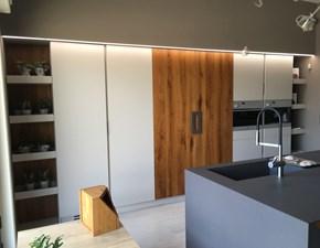 Cucina tortora moderna ad isola Loop ditta old line Artigianale