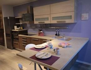 Cucina tortora moderna con penisola Adele Lube cucine in offerta