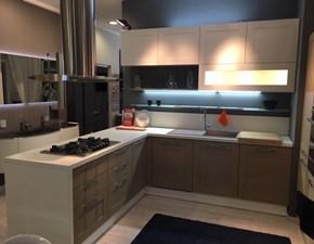 Cucina tortora moderna con penisola Open Scavolini