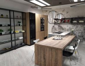 Cucina tortora moderna con penisola Xl Giemme in Offerta Outlet