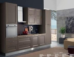 Cucina tortora moderna lineare Cucina mod.caravaggio versione in arkolcel colore nocciola scontata del 40% Aran cucine in Offerta Outlet