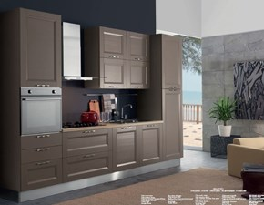 Cucina tortora moderna lineare Cucina mod.caravaggio versione in arkolcel colore nocciola scontata del 35% Aran cucine in Offerta Outlet