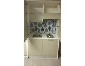 Cucina tortora moderna lineare Cucina monoblocco artica 125 Artigianale in Offerta Outlet