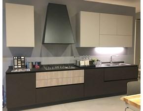 Cucina tortora moderna lineare Infinity hpl cashmere opaco e  cemento vulcano  Stosa cucine in Offerta Outlet