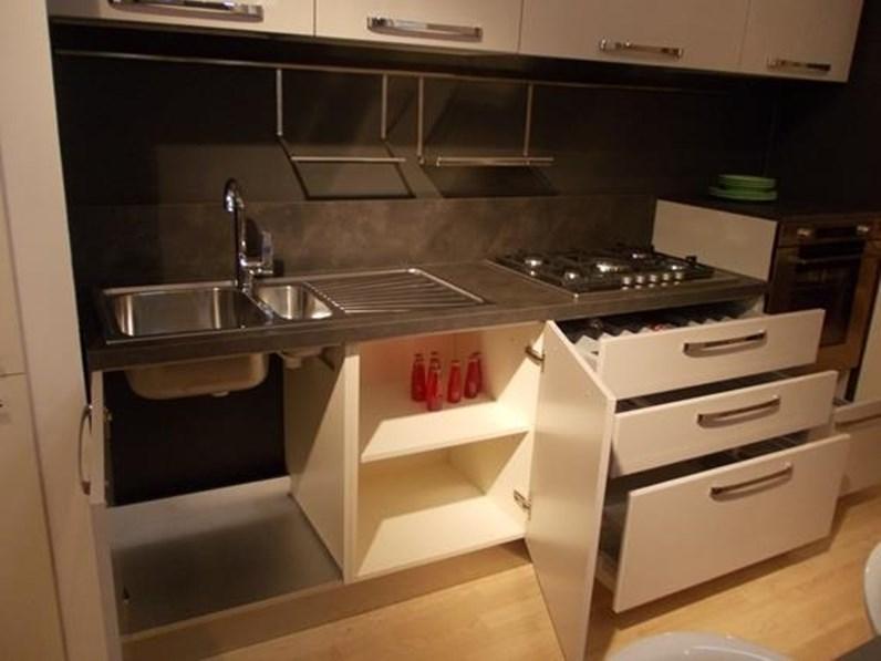 Cucina tortora moderna lineare siria arredo3 scontata for Cucina moderna 3 60