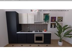 Cucina tortora moderna lineare Sp22 Astra cucine in Offerta Outlet