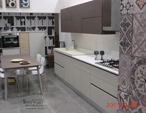 Cucina tortora moderna lineare Unica - capri gola Imab group in Offerta Outlet
