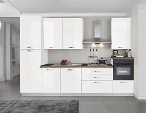 Cucina Turri lineare modernaEMMA in Offerta Outlet Bianco lucido 330 cm
