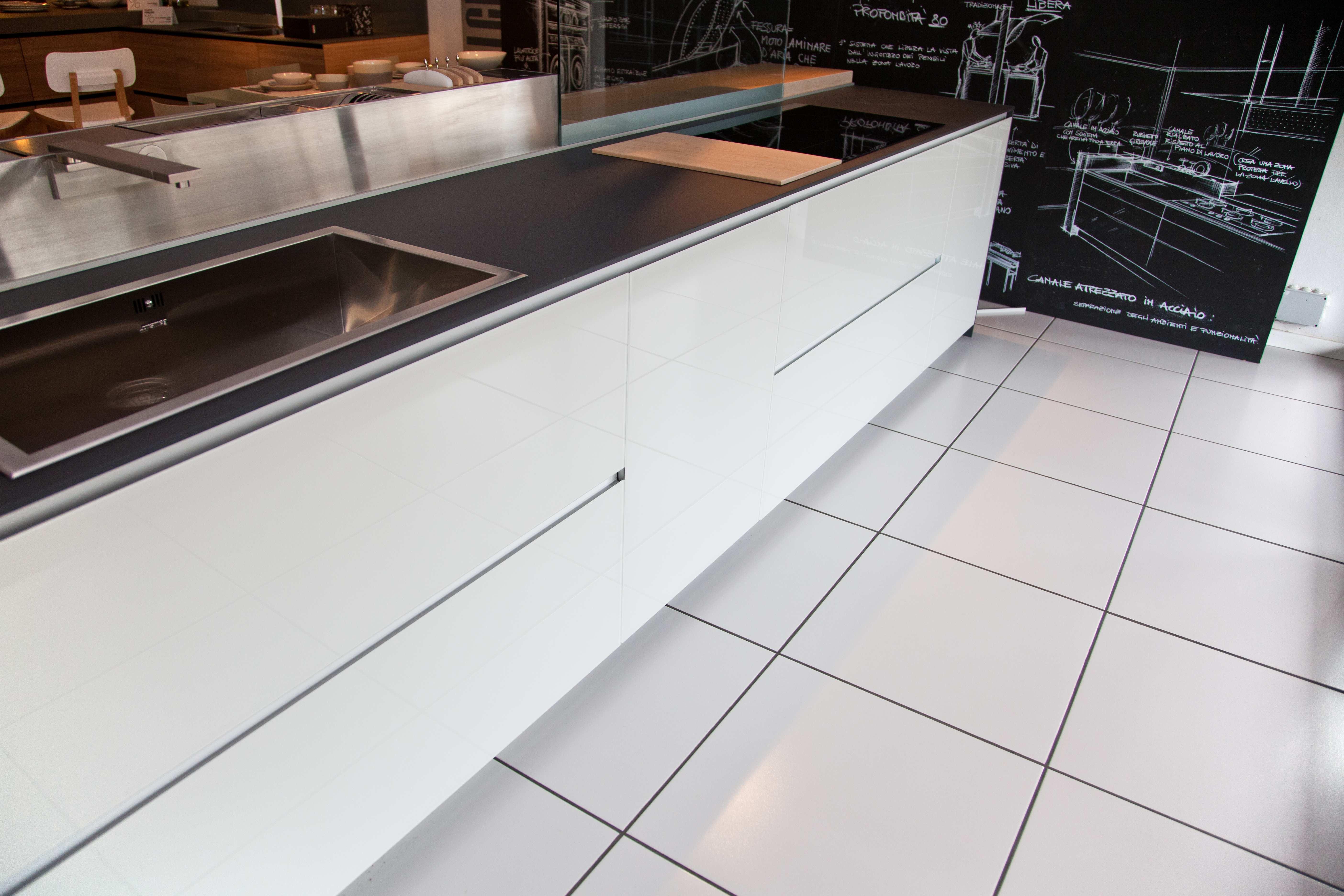 Cucina valcucine artematica vitrum bianco lucido con - Cucina bianco lucido ...