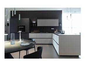 Cucina Valcucine design con penisola tortora in laminato opaco Cucina riciclantica