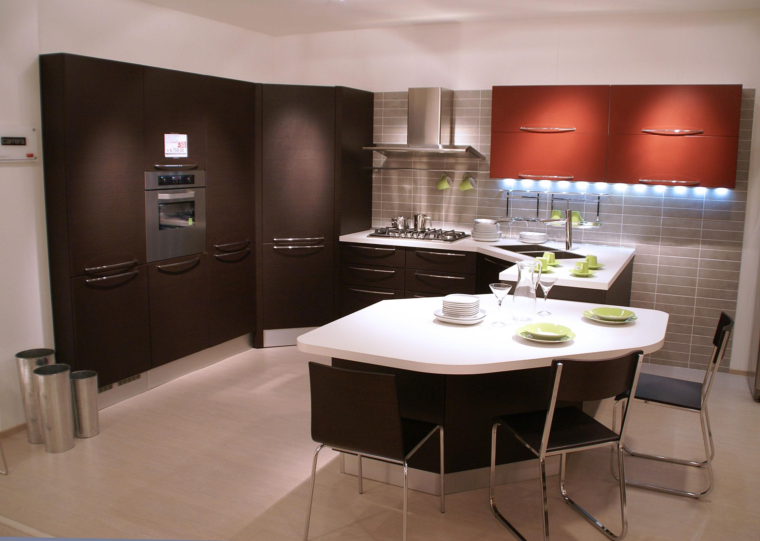 Cucina veneta cucine carrera pvc rovere scuro scontato del 60 cucine a prezzi scontati - Cucina veneta cucine ...