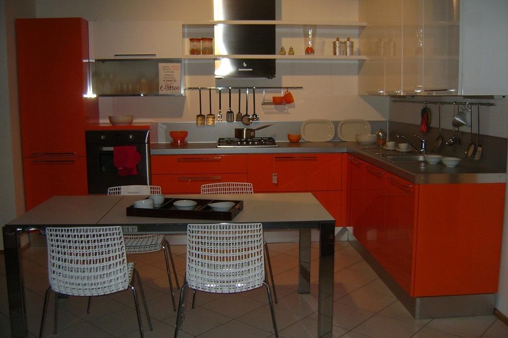 Cucina Cucina In Polimerico Bianco Cm 330 Top In Acciaio Con Lavello ...