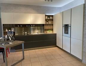 Cucina Veneta cucine design ad angolo antracite in laminato opaco Oyster