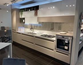 Cucina Veneta cucine design lineare tortora in laminato materico Carrera f1