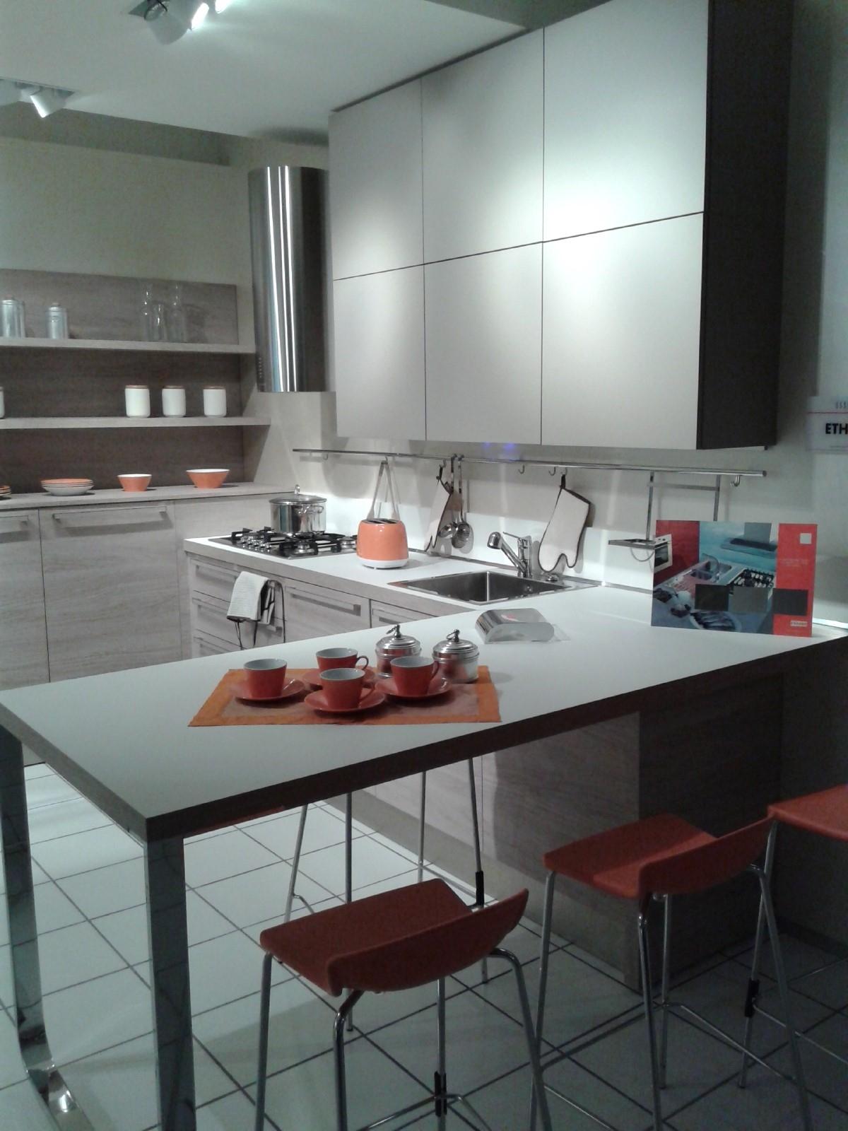 Cucina Veneta Cucine Ethica Decorativo Laminato Materico Cucine A  #8C503F 1200 1600 Veneta Cucine A Scomparsa