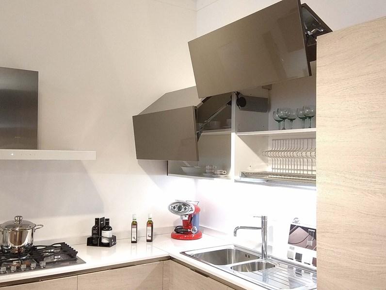 Cucina Veneta Cucine ETHICA DEK angolare con top in quarzo