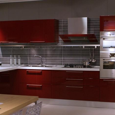 Cucine Moderne Colore Rosso ~ Idee Creative di Interni e Mobili