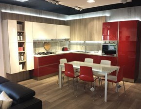 Cucina Veneta cucine moderna ad angolo rossa in laccata Like go