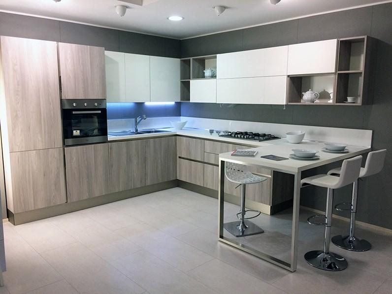 Veneta Cucine Moderne.Cucina Veneta Cucine Start Time Go 28 Olmo Neutro Scontato Del 52