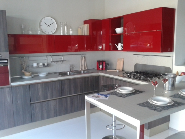 Cucina veneta cucine start time go 28 veneta cucine for Cucine rosse