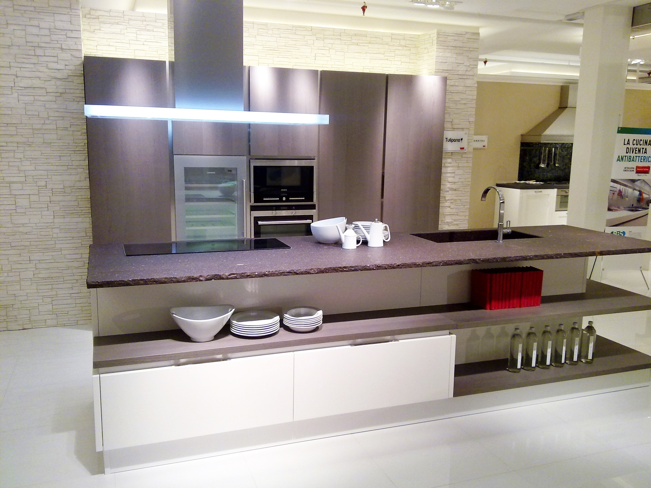 Cucina Veneta Cucine Tulipano Scontato Del  65 % Cucine A Prezzi  #72654B 2592 1944 Dibiesse O Veneta Cucine