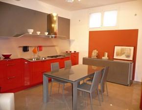 Cucina Venus design rossa ad isola Snaidero