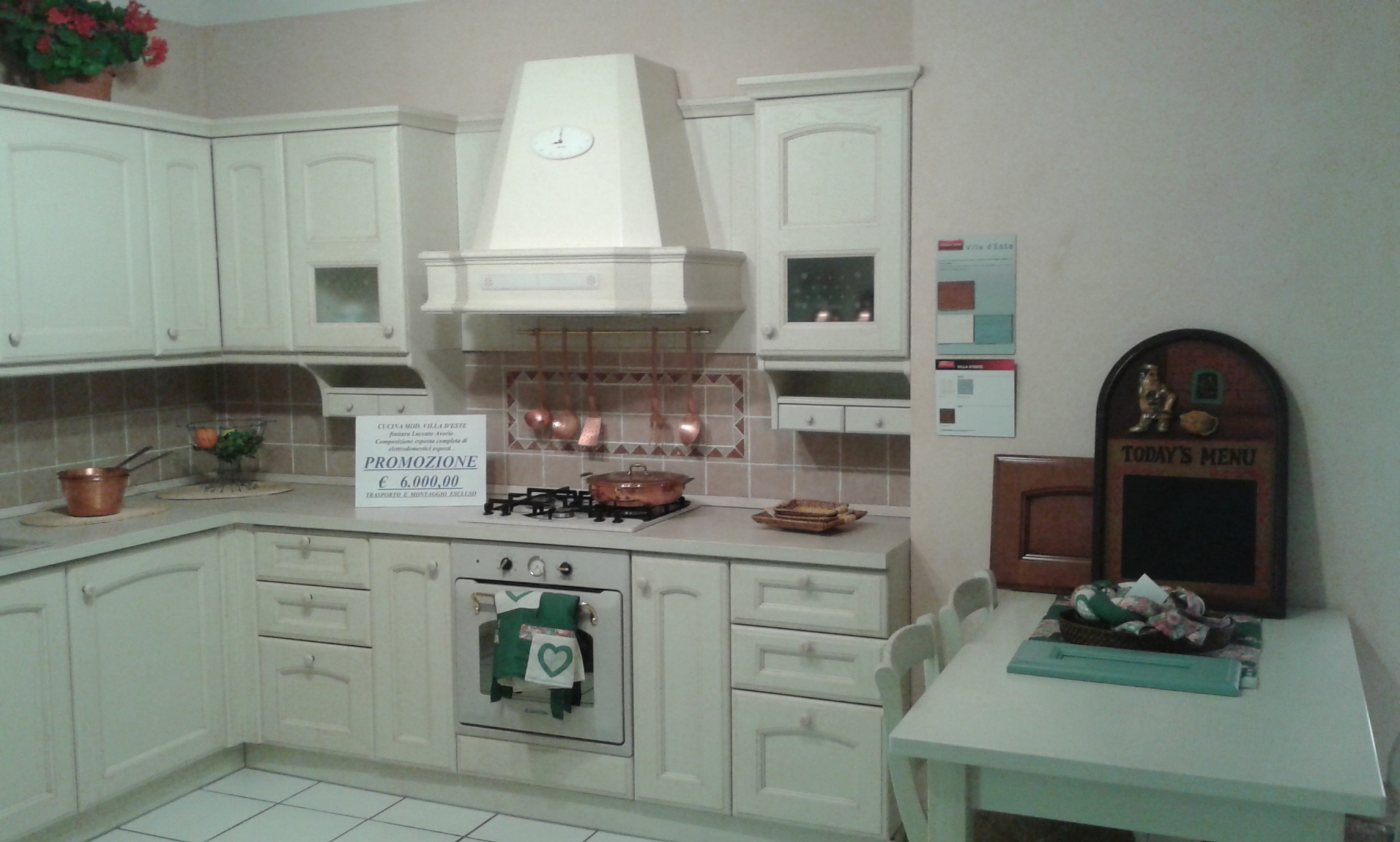 Cucina Veneta Cucine Modello Prevolution Ginger Plus Disponibile Nei  #61483F 2048 1232 Open Space Con Sala Da Pranzo