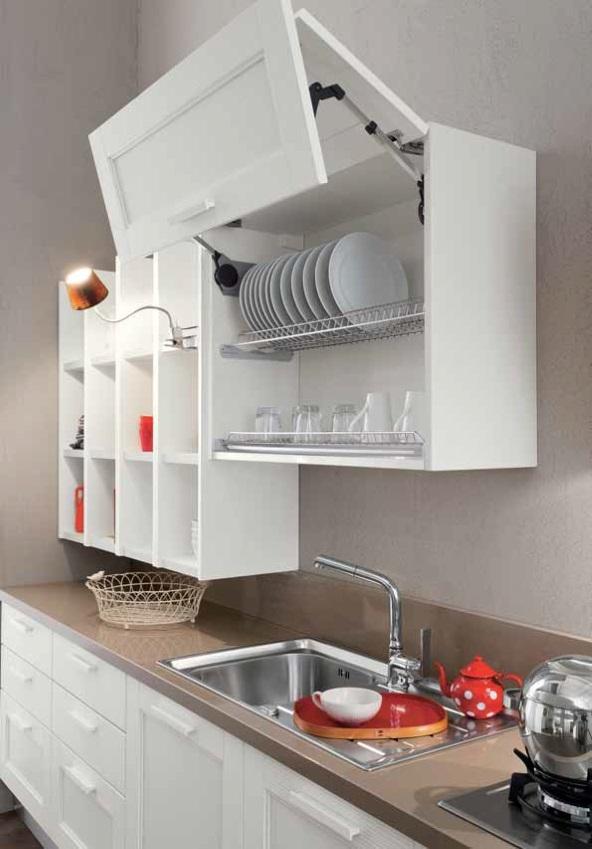 cucina vintage bianca shabby chic completa di elettrodomestici ...
