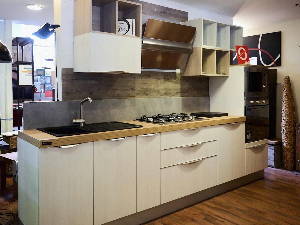 Cucina white shabby chic in offerta convenienza cm 330 con - Cucina shabby chic ...