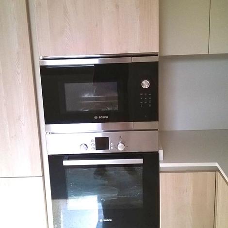 Cucina wood arredo 3 scontata cucine a prezzi scontati - Mobile porta forno microonde ...