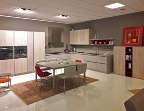 Cucina Wood e silicio moderna grigio ad angolo Arredo3