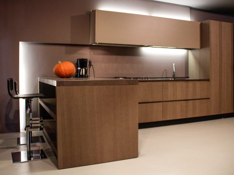 Cucina zampieri cucine line c moderne legno neutra for Outlet cucine moderne