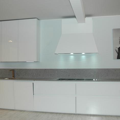 Cucina zampieri glass vetro temperato bianco lucido - Cucina bianco lucido ...