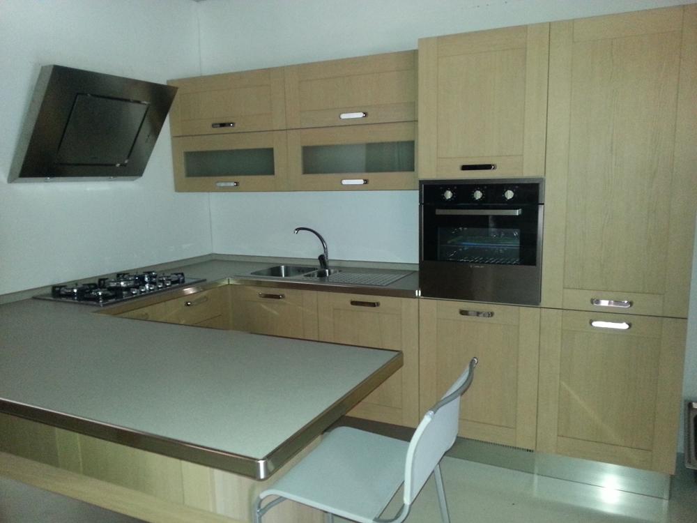Zanotto cucina in legno moderna legno rovere chiaro   cucine a ...