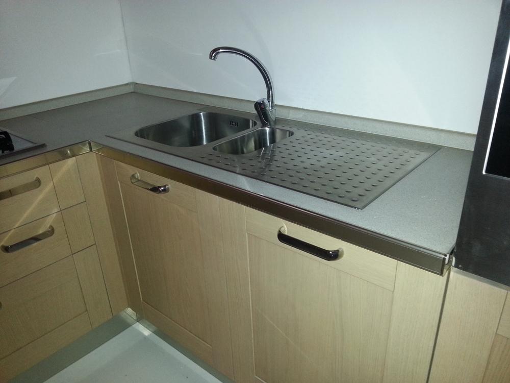 Zanotto cucina in legno moderna legno rovere chiaro cucine a prezzi scontati - Cucine in legno chiaro ...