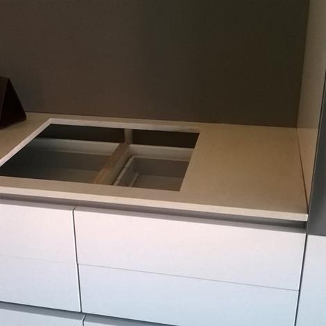 Cucina Zanotto Laccata bianca lucida e legno Moderno ...