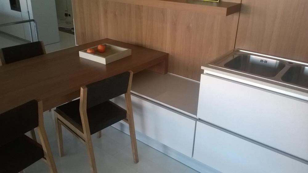Cucina Legno E Laccato Sirio : Cucina zanotto laccata bianca lucida e legno moderno