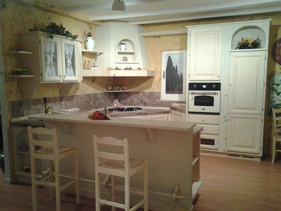Cucina zappalorto in offerta 4523 cucine a prezzi scontati - Cucina muratura bianca ...